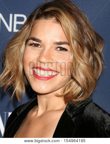 LOS ANGELES - NOV 2:  America Ferrera at the NBC And Vanity Fair Toast the 2016-2017 TV Season at NeueHouse Hollywood on November 2, 2016 in Los Angeles, CA