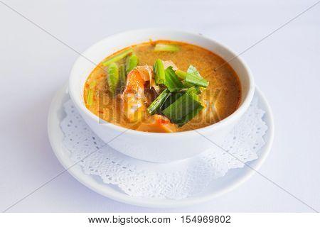 prawn and lemon grass soup with mushrooms