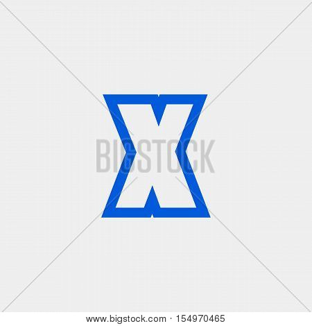 Letter X vector, logo. Useful as branding symbol, corporate identity, alphabet element, app icon, clip art and illustration.