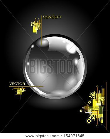 Realistic sphere illustration. Logo concept. Vector EPS10