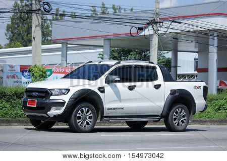 CHIANG MAI THAILAND - OCTOBER 9 2016: Private Pickup car Ford Ranger. On road no.1001 8 km from Chiangmai city.