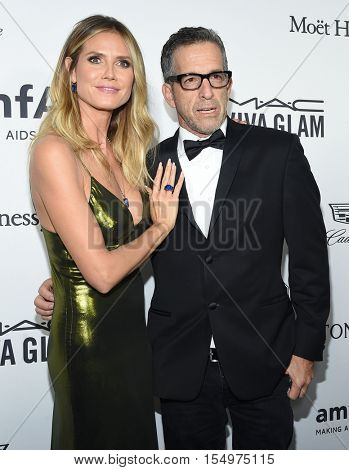 LOS ANGELES - OCT 27:  Heidi Klum and Kenneth Cole arrives to the amFAR's Inspiration Gala on October 27, 2016 in Hollywood, CA