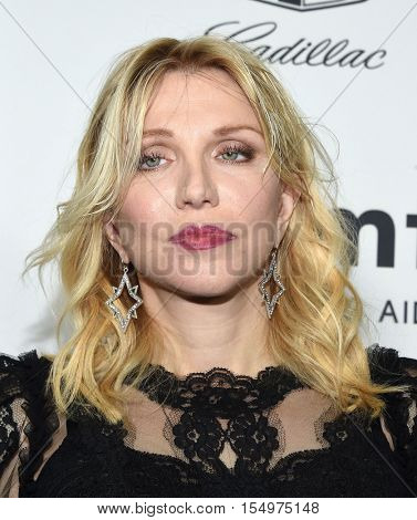 LOS ANGELES - OCT 27:  Courtney Love arrives to the amFAR's Inspiration Gala on October 27, 2016 in Hollywood, CA