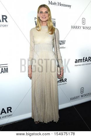 LOS ANGELES - OCT 27:  Angela Lindvall arrives to the amFAR's Inspiration Gala on October 27, 2016 in Hollywood, CA
