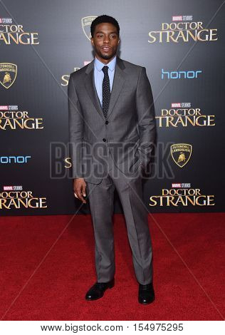 LOS ANGELES - OCT 20:  Chadwick Boseman arrives to the