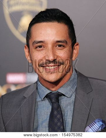 LOS ANGELES - OCT 20:  Gabriel Luna arrives to the