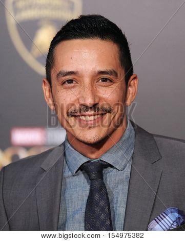 LOS ANGELES - OCT 20:  Gabriel Luna arrives to the
