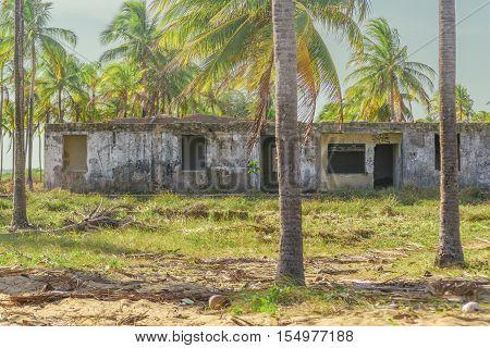 Abandonded Building Porto Galinas Brazil