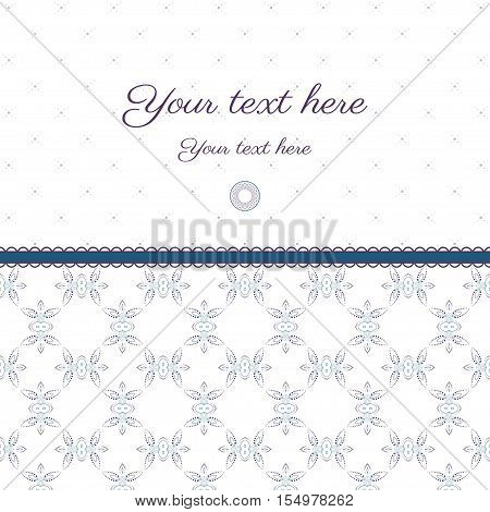 Vector abstract background with sample text. Decor is delicate. Perfect as invitation or congratulation. Color easily changed.