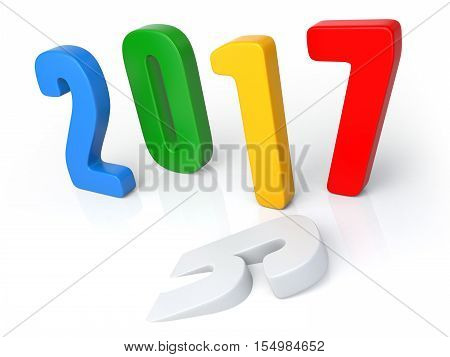 2016 - 2017 Change Represents The New Year 2017