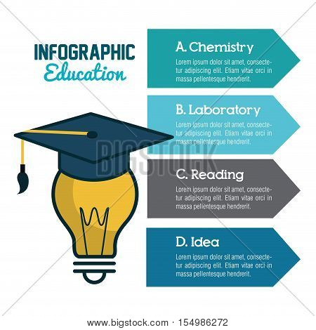 infographic education flat icons vector illustration design