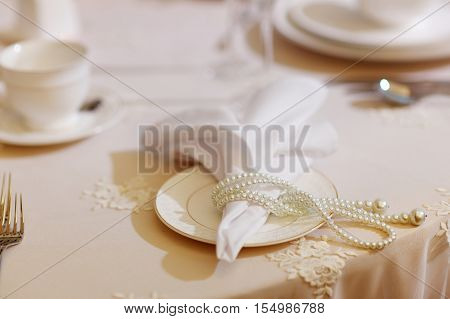 Table Set For An Event Or Party