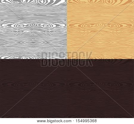 seamless pattern of the wood in 4 colors