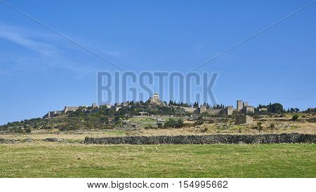Skyline of Trujillo in Caceres. Extremadura Spain.