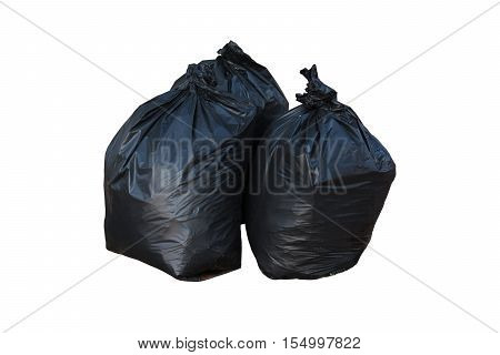 Bin Bag Garbage Isolated On Background White.