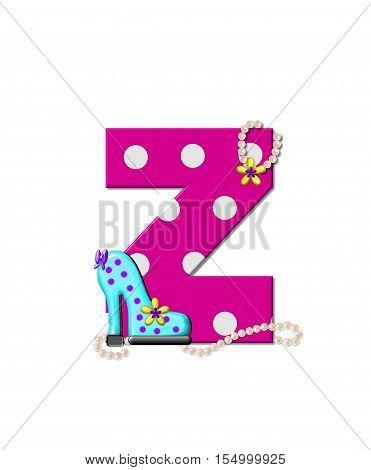 Alphabet Shoe Dive Z