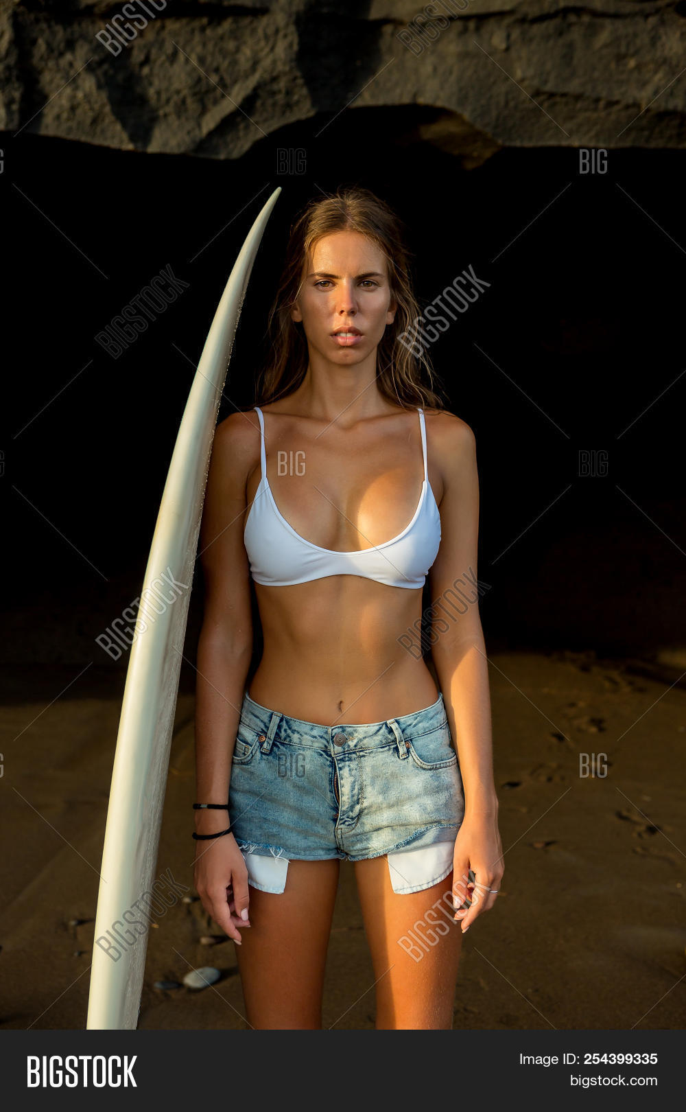 Young Surfer Pretty Image Photo Free Trial Bigstock