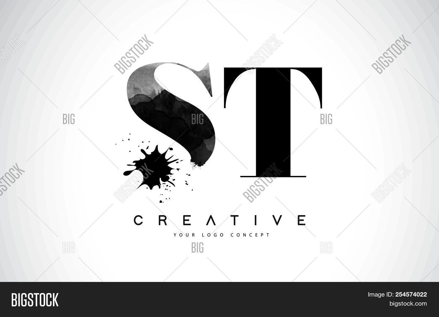 St S T Letter Logo Vector Photo Free Trial Bigstock