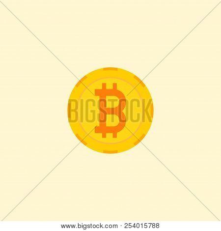 Crypto Currency Icon Flat Element. Vector Illustration Of Crypto Currency Icon Flat Isolated On Clea