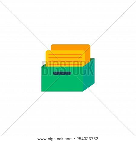 Task Box Icon Flat Element.  Illustration Of Task Box Icon Flat Isolated On Clean Background For You