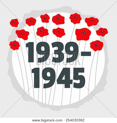Ww2 Soviet Victory Remember Background. Flat Illustration Of Ww2 Soviet Victory Remember Vector Back