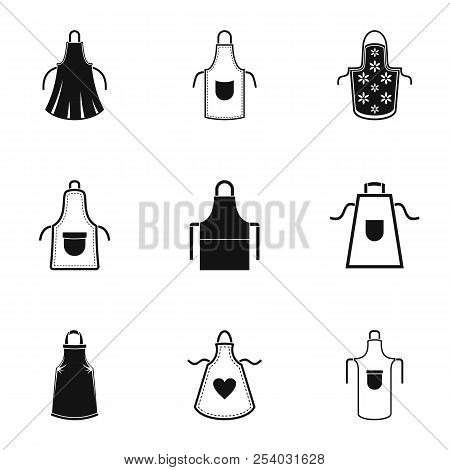 Pinafore Icons Set. Simple Set Of 9 Pinafore Vector Icons For Web Isolated On White Background
