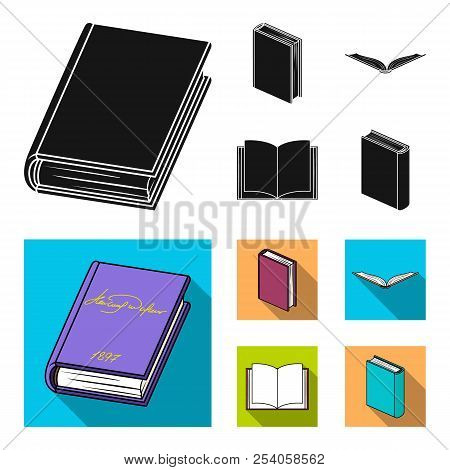 Various Kinds Of Books. Books Set Collection Icons In Black, Flat Style Vector Symbol Stock Illustra