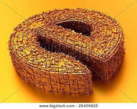 Symbol of internet. 3d