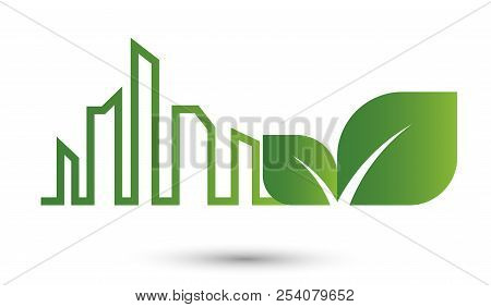 Ecology City Abstract Concept,green Leaveseco, Ecology, City, Nature, Energy, Concept