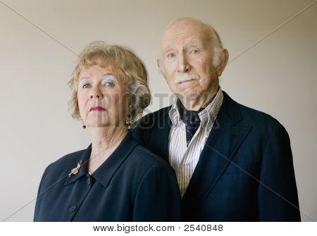 Snooty Senior Couple