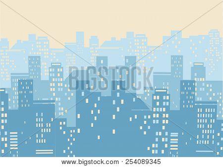 Cityscape Background Illustration.vector Illustration Of Modern City