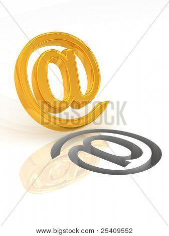 Mail. Symbol. 3d