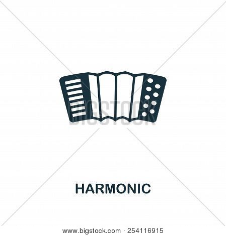 Harmonic creative icon. Simple element illustration. Harmonic concept symbol design from party icon collection. Perfect for web design, apps, software, print. poster