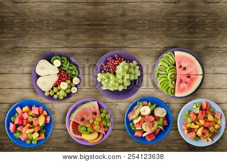 Healthy Food . Fruit Salads On The Table.