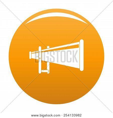 Portable Megaphone Icon. Simple Illustration Of Portable Megaphone Icon For Any Design Orange