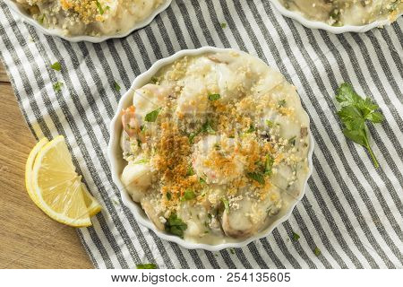 Baked Coquilles St Jacques Scallops