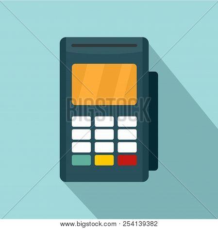 Credit Card Reader Icon. Flat Illustration Of Credit Card Reader Icon For Web Design