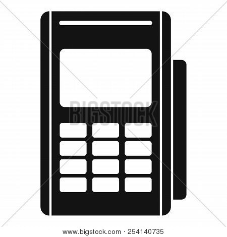 Credit Card Reader Icon. Simple Illustration Of Credit Card Reader Icon For Web Design Isolated On W