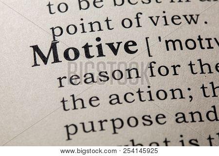 Definition Of Motive