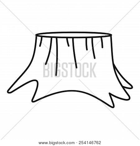 Old Stump Icon. Outline Illustration Of Old Stump Icon For Web Design Isolated On White Background