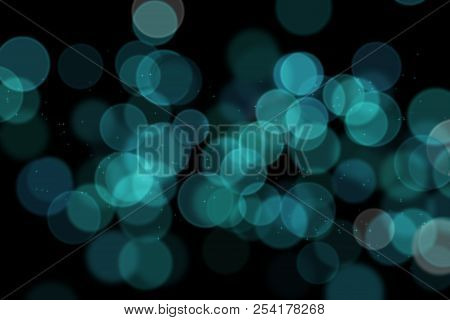 Bokeh, Digital Bokeh, Blue Digital Bokeh, Abstract Background, Blurred Lights