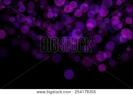 Bokeh, Digital Bokeh, Purple Digital Bokeh, Abstract Background, Blurred Lights