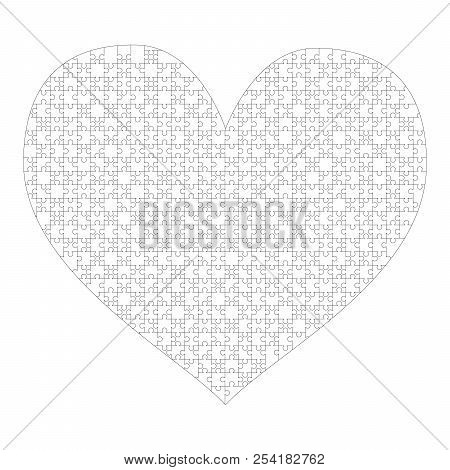 white puzzles pieces vector photo free trial bigstock