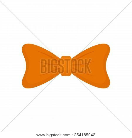 Fashion Bow Tie Icon. Flat Illustration Of Fashion Bow Tie Icon For Web Isolated On White