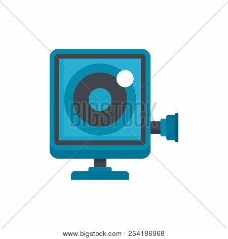 Action Camera Icon. Flat Illustration Of Action Camera Icon For Web Isolated On White