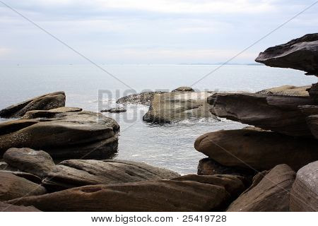 coastline with big boulders 2
