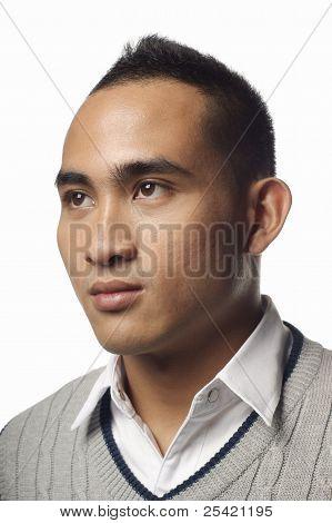 Asian malay man portrait