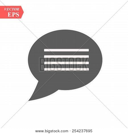 Chat Icon, Chat Icon Vector, In Trendy Flat Style Isolated On White Background. Chat Icon Image, Cha
