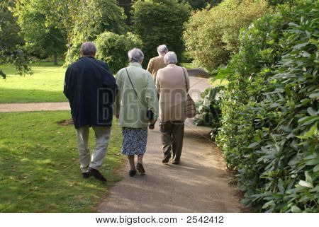 Elderly Couples/ Friends Going Out Together