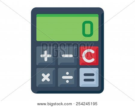 Beautiful, Meticulously Designed Math Calculator Icon. Perfect For Use In Designing And Developing W